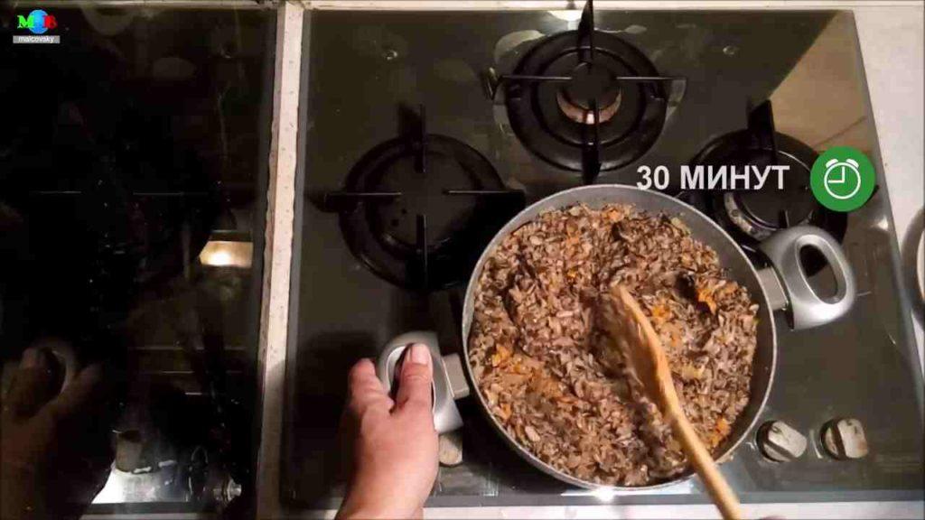 Обжарка грибной смеси