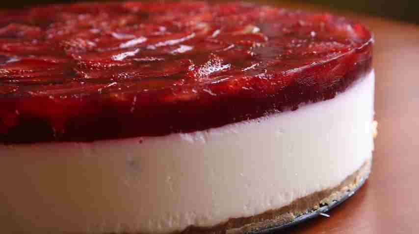 торт из печенья без выпечки с творогом и желатином