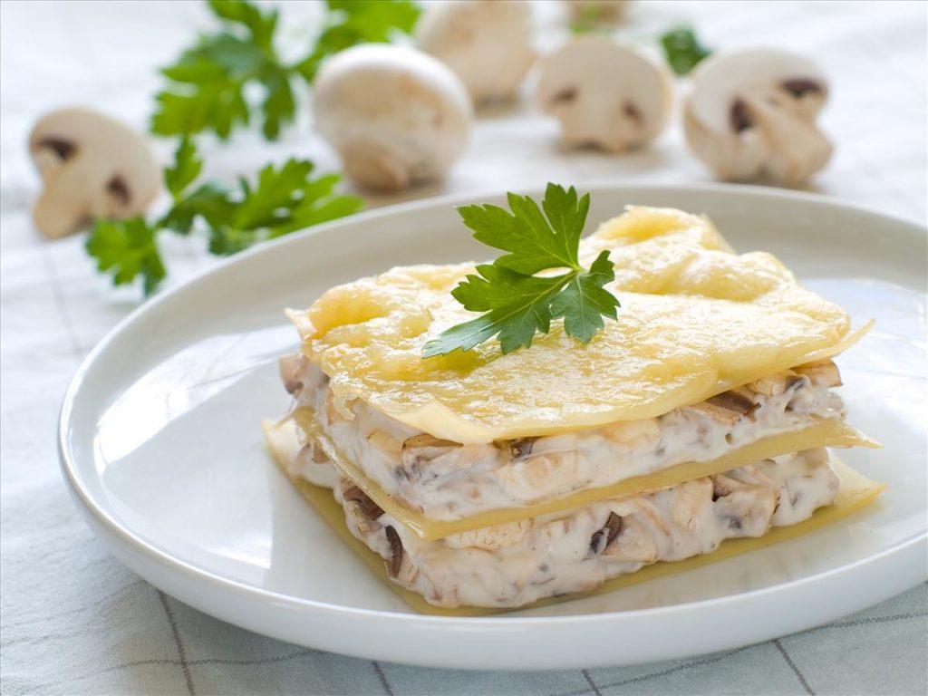 Лазанья классическая с грибами рецепт