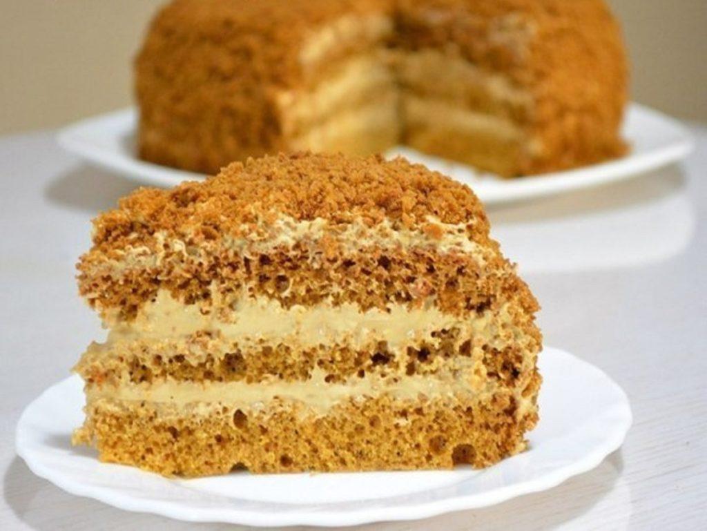 Бисквитный медовый торт рецепт с пошагово