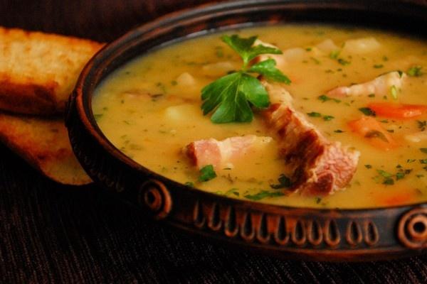 Рецепт гороховый суп с копчёностями в мультиварке