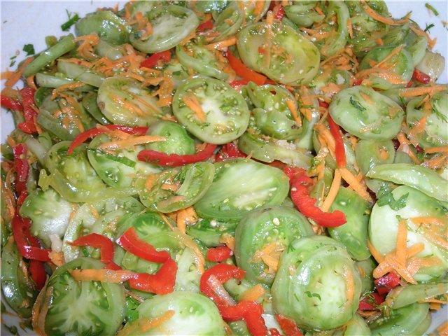 Салаты на зиму с зелеными помидорами